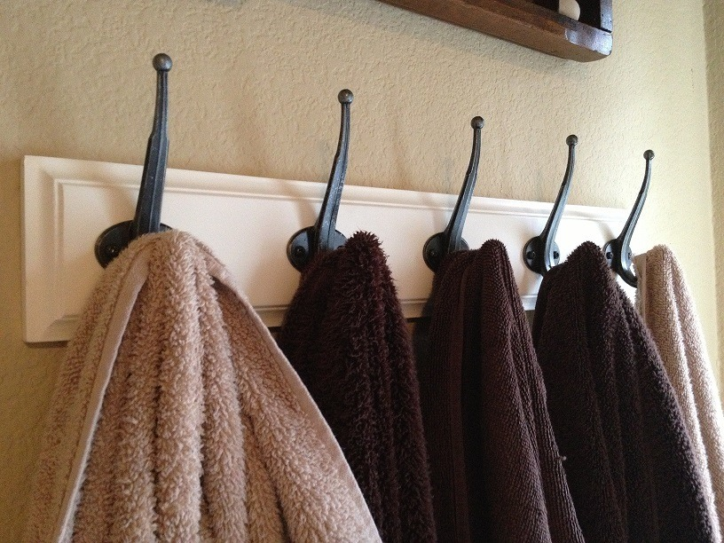 Towel Hook Coat Rack With 3 Nine 8 Simple Storage Ideas For A Small Family  Bathroom